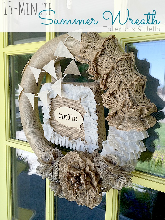 15 minute summer wreath idea at tatertots and jello