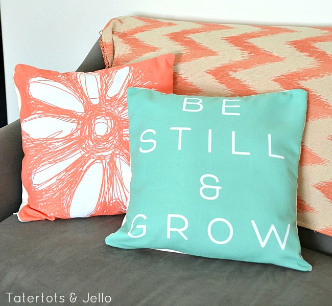 be still and grow pillows and free printables