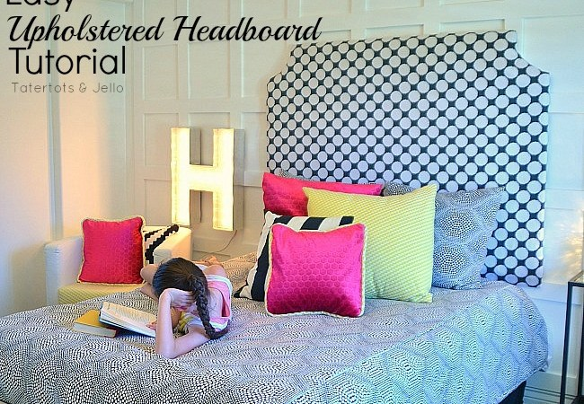 Make an Easy DIY Upholstered Headboard!