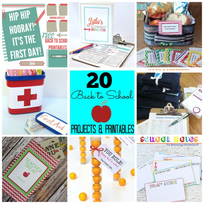 20 back to school projects and printables at tatertots and jello