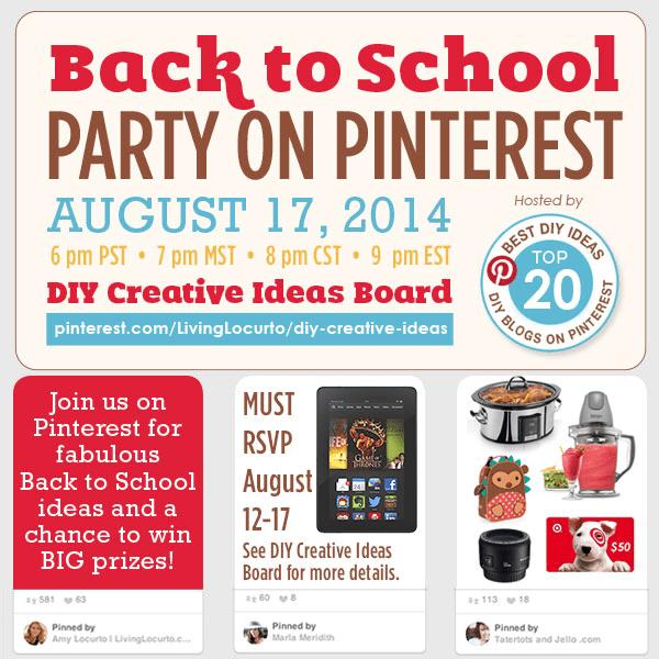 d21bd6b9a35 Link Party Palooza -- & Back to School Pinterest Party RSVP!