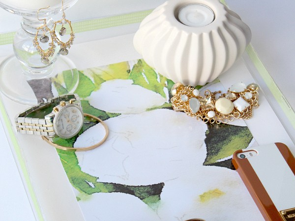 DIY Watercolor Lucite Tray