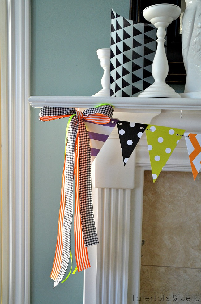 Home Haunted Home Halloween Pennant