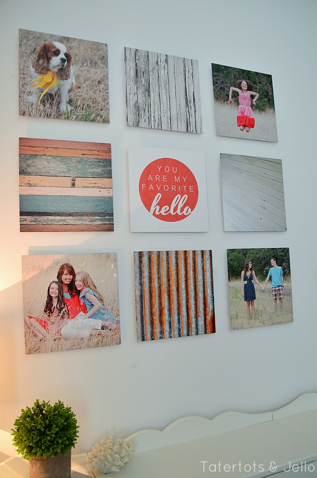 Simple metal gallery wall using shutterfly at tatertots and jello