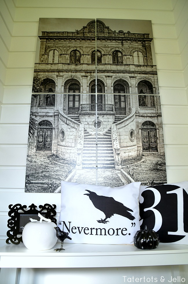 nevermore and halloween printables at tatertots and jello