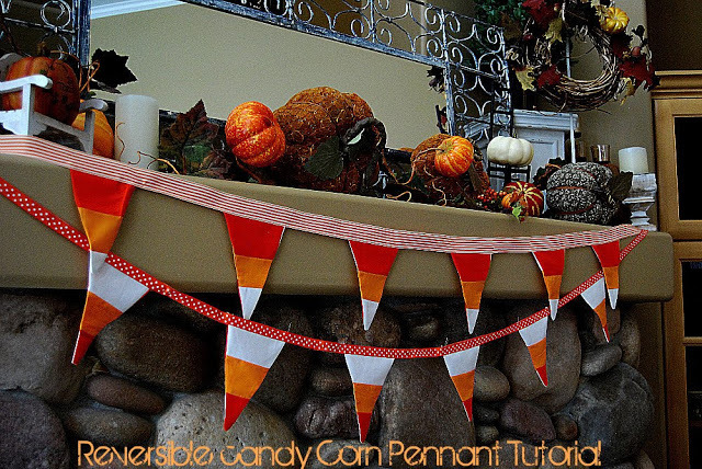 reversible candy corn banner