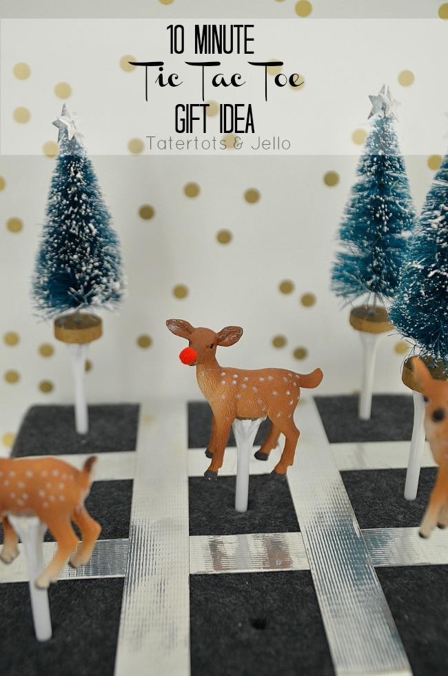 10 minute tic tac toe gift idea at tatertots and jello