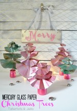 Mercury Glass Paper Christmas Trees Tutorial!