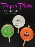 Easy Paper Plate Halloween Masks!