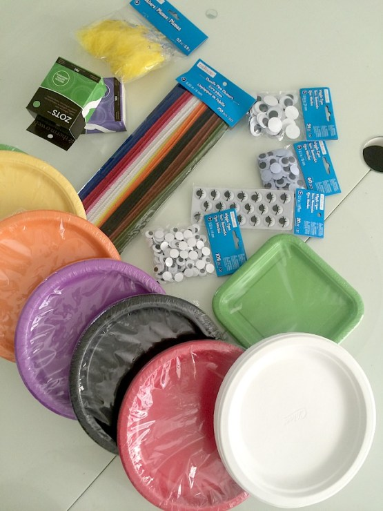 paper plate supplies from michaels