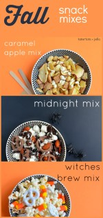 Three Fall + Halloween Snack Mixes to Make!