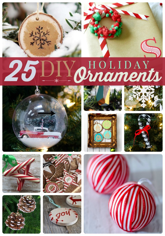25 diy holiday ornaments