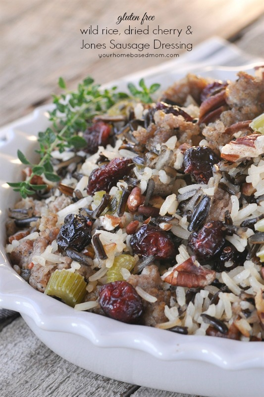Gluten Free Wild Rice and Sausage Stuffing
