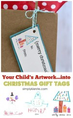 HAPPY Holidays: Christmas Gift Tags from Your Child's Artwork!