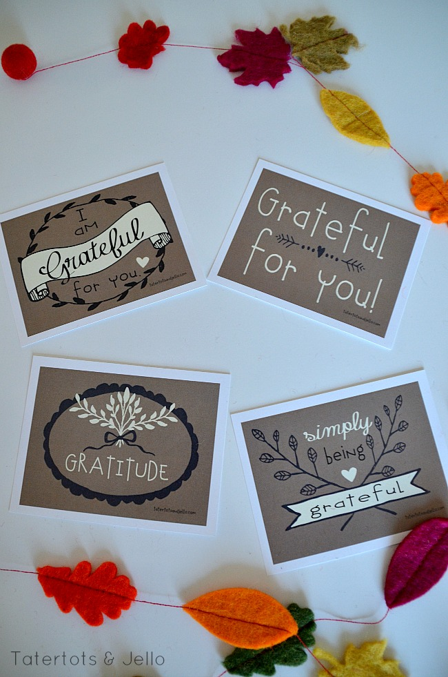 gratitude free thanksgiving printables at tatertots and jello