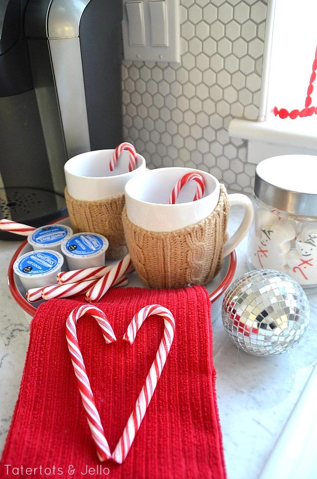 hot chocolate station at tatertots and jello