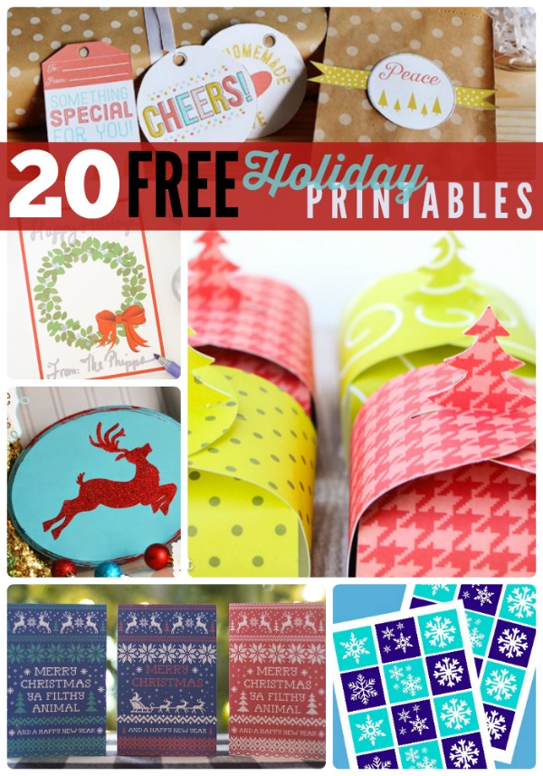 20 free holiday printables