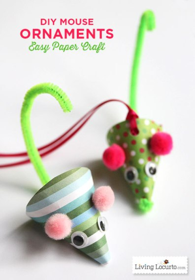Mouse-Paper-Craft-Christmas-Ornament