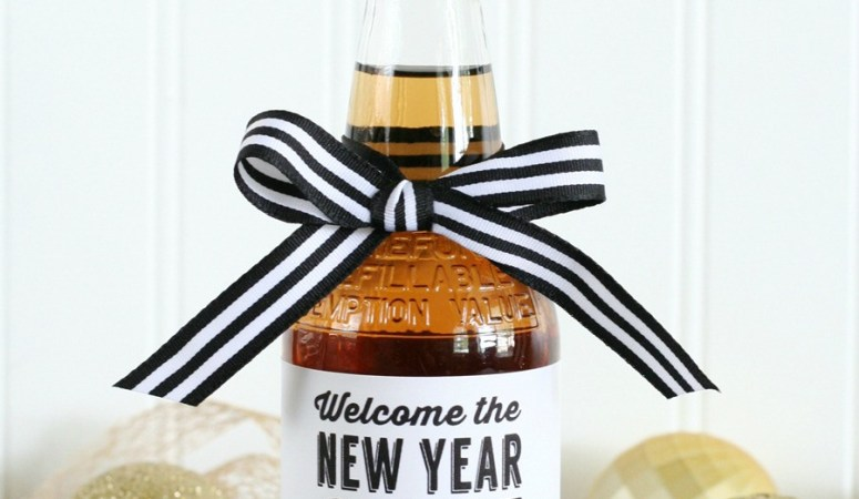HAPPY Holidays: New Years Free Printable Tags