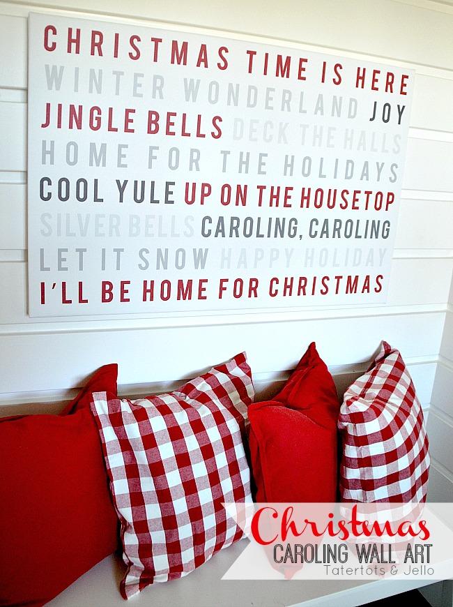 christmas caroling wall art at tatertots and jello