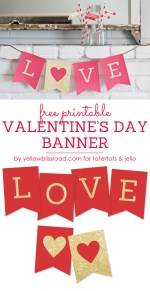 Free Printable Valentine's Day Banner