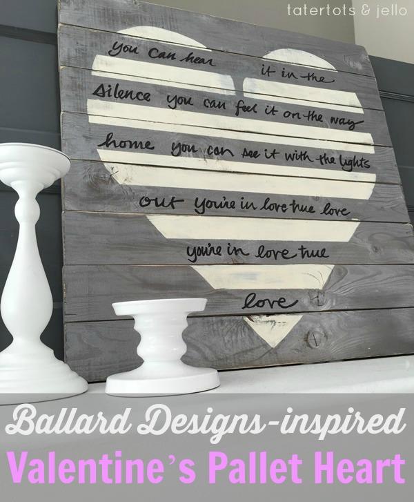 BALLARD-DESIGNS-INSPIRED VALENTINE'S PALLET HEART