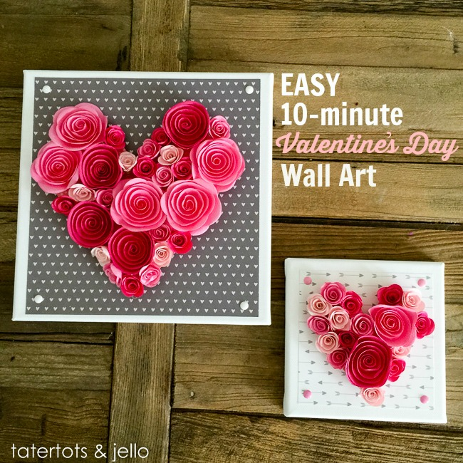 Easy 10 Minute Valentine S Day Wall Art And Free Templates Tatertots Jello