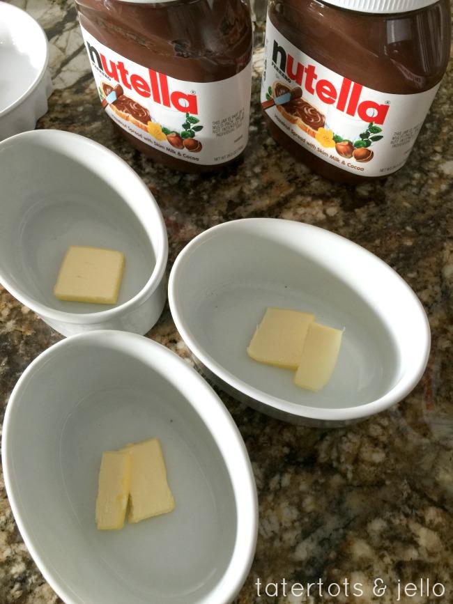 melt.butter.ramekins.nutella