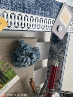 Denim Pallet Desk Organizing Station!