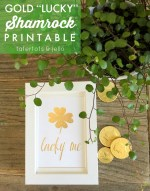 Gold Lucky Shamrock Printable!