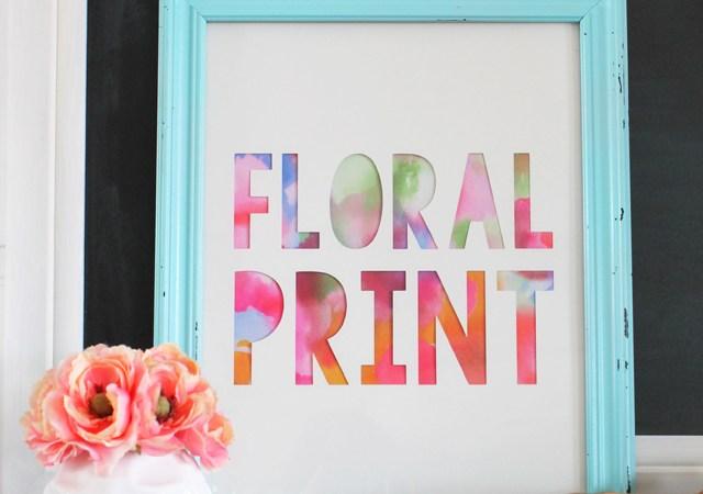 DIY Floral Print Artwork