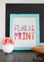 DIY Floral Print Artwork