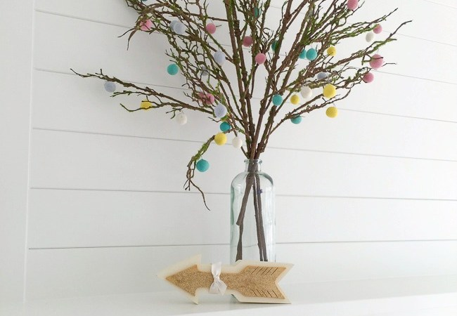 Easy Felt Ball Tree Blossoms