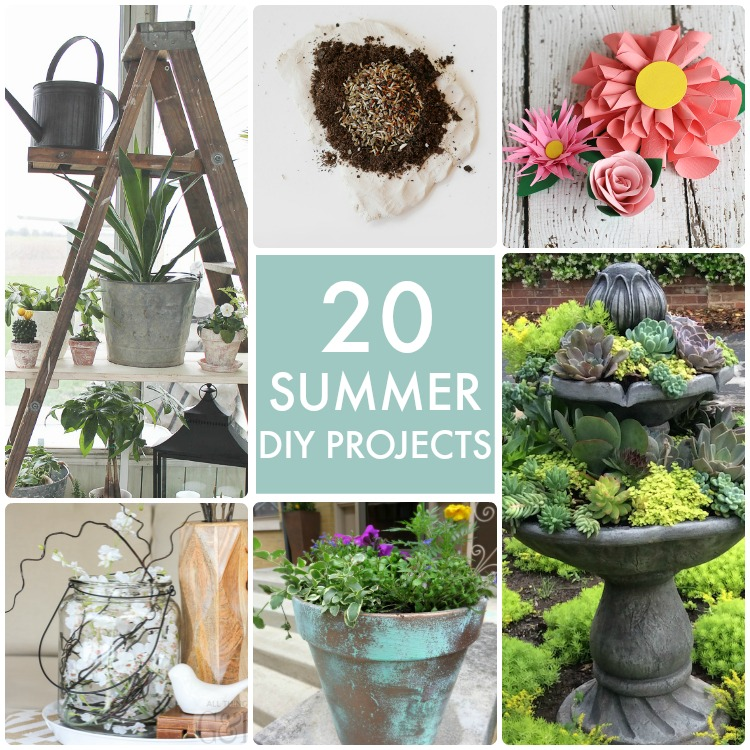 20 Useful And Easy Diy Garden Projects: Great Ideas -- 20 Summer DIY Projects