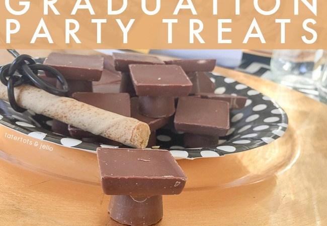 """Easy """"Mortar Board"""" Graduation Party Treats"""