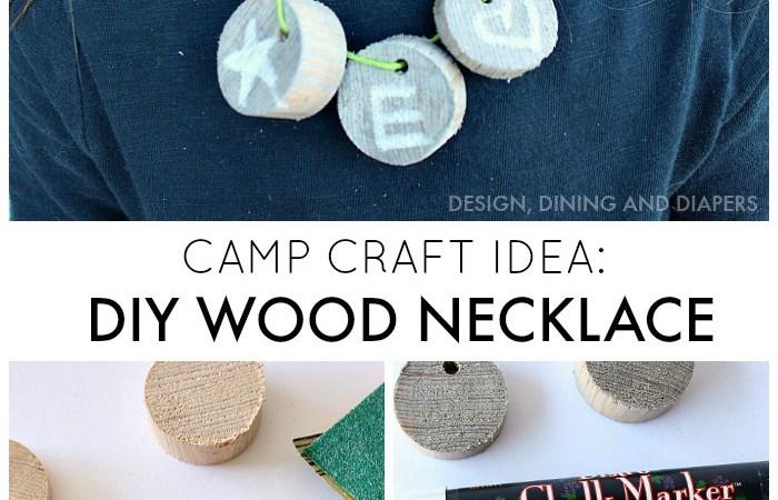 Camp Craft Idea: DIY Wood Necklace
