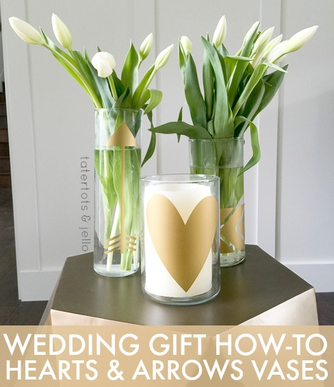 Wedding Gift How To Heart and Arrow Vases