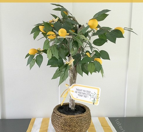 Lemon Money Tree Wedding Gift (Free Printable)