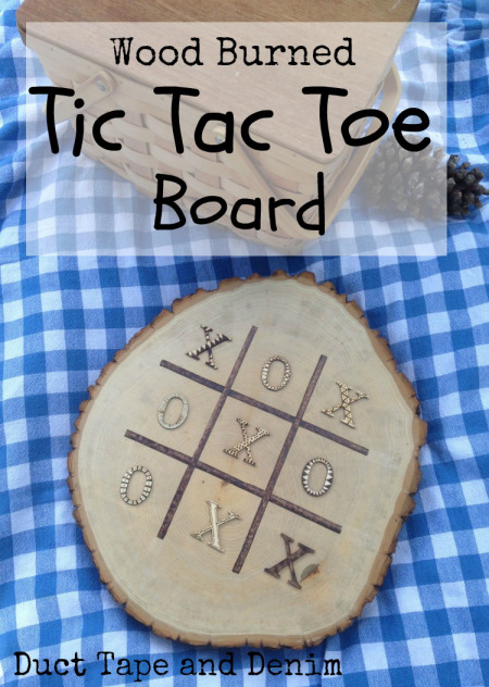 Wood-burned-tic-tac-toe-board