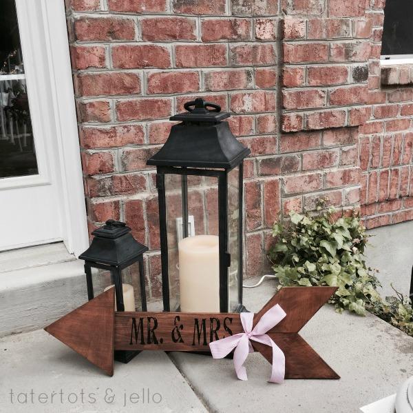 DIY Mr. and Mr/s Arrow Gift or Wedding Decor