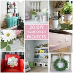 Great Ideas — 20 DIY Home Decor Projects!