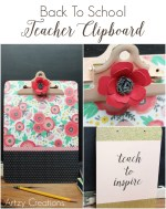 Back To School Teacher Clipboard
