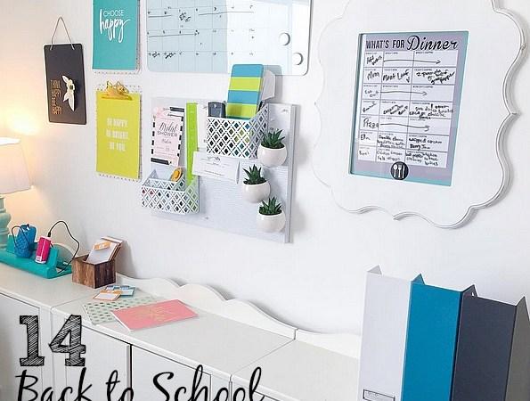 14 Back to School Organizing Tips!