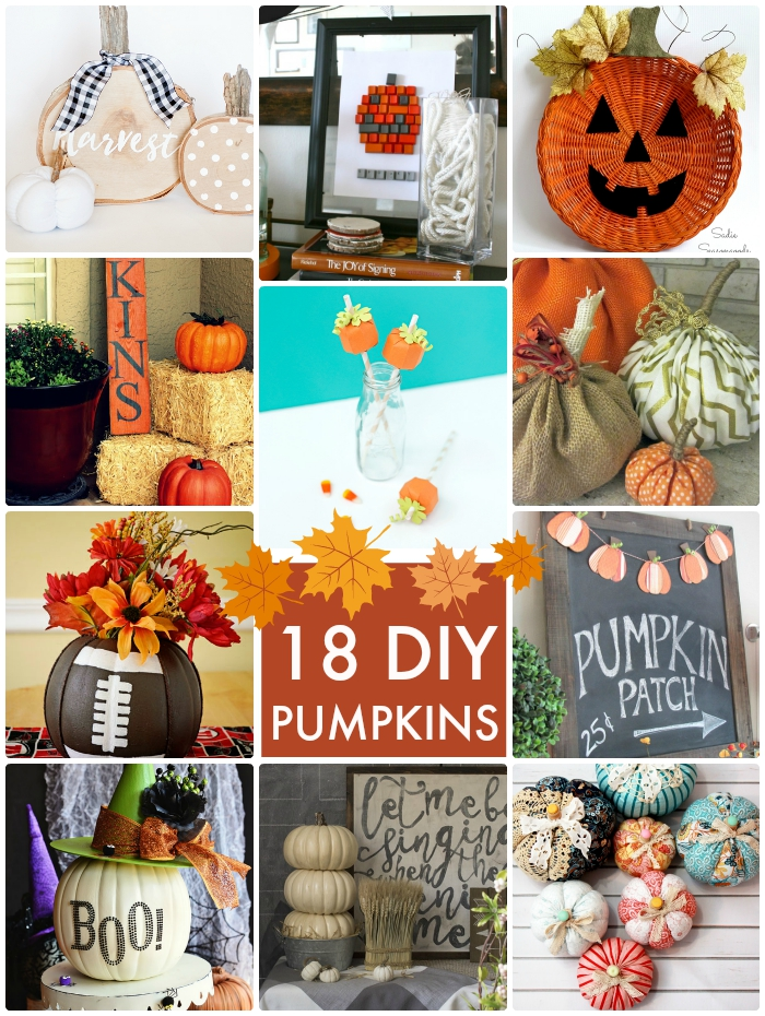 18 DIY Pumpkins