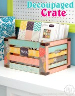 DIY Decoupaged Crate