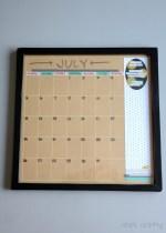 DIY Dry Erase Wall Calendar