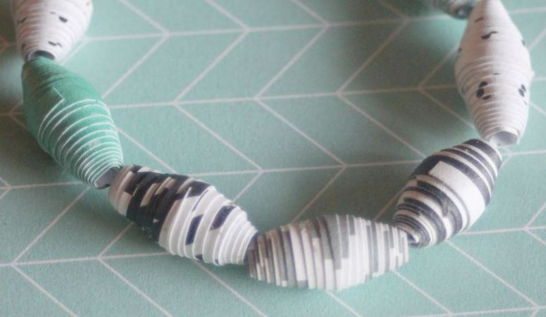 Homemade Paper Bead Bracelet