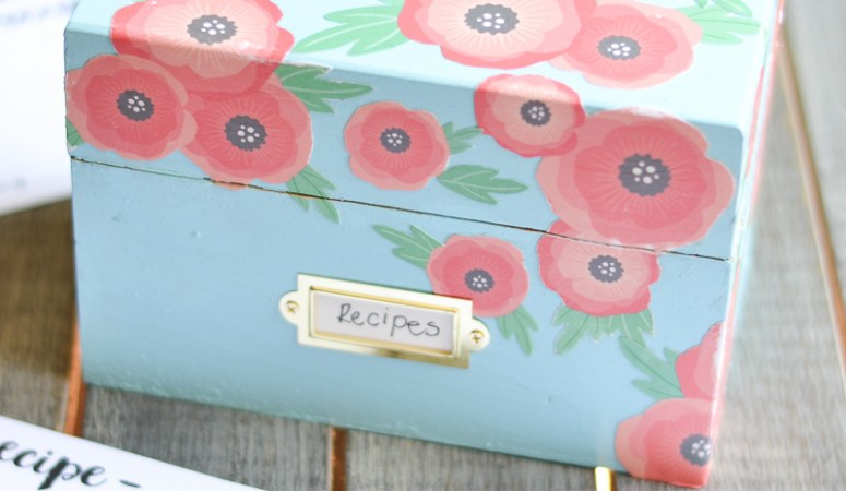 Anthropologie Inspired Recipe Box