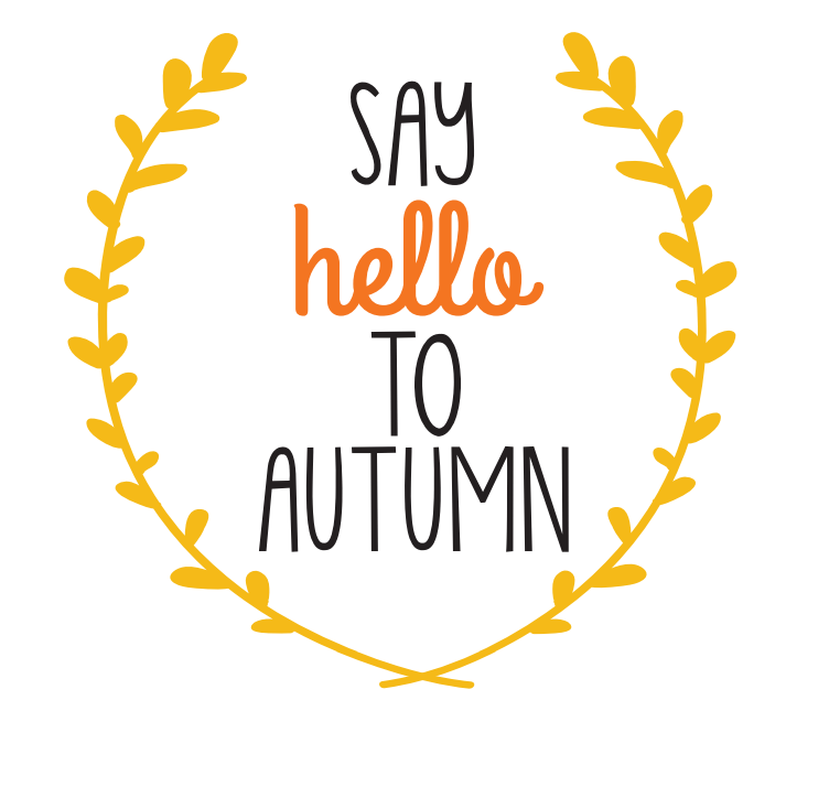 yellow say hello to autumn printable