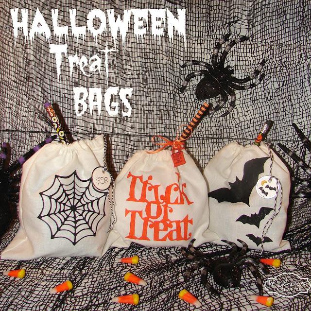 DIY Halloween Candy Bags #partyfavor #halloweenparty #halloweencraft